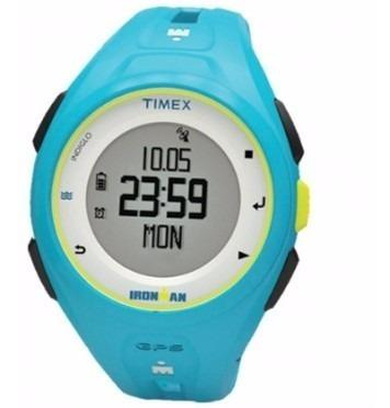 reloj timex ironman run x20 gps tw5k87600 hombre   original
