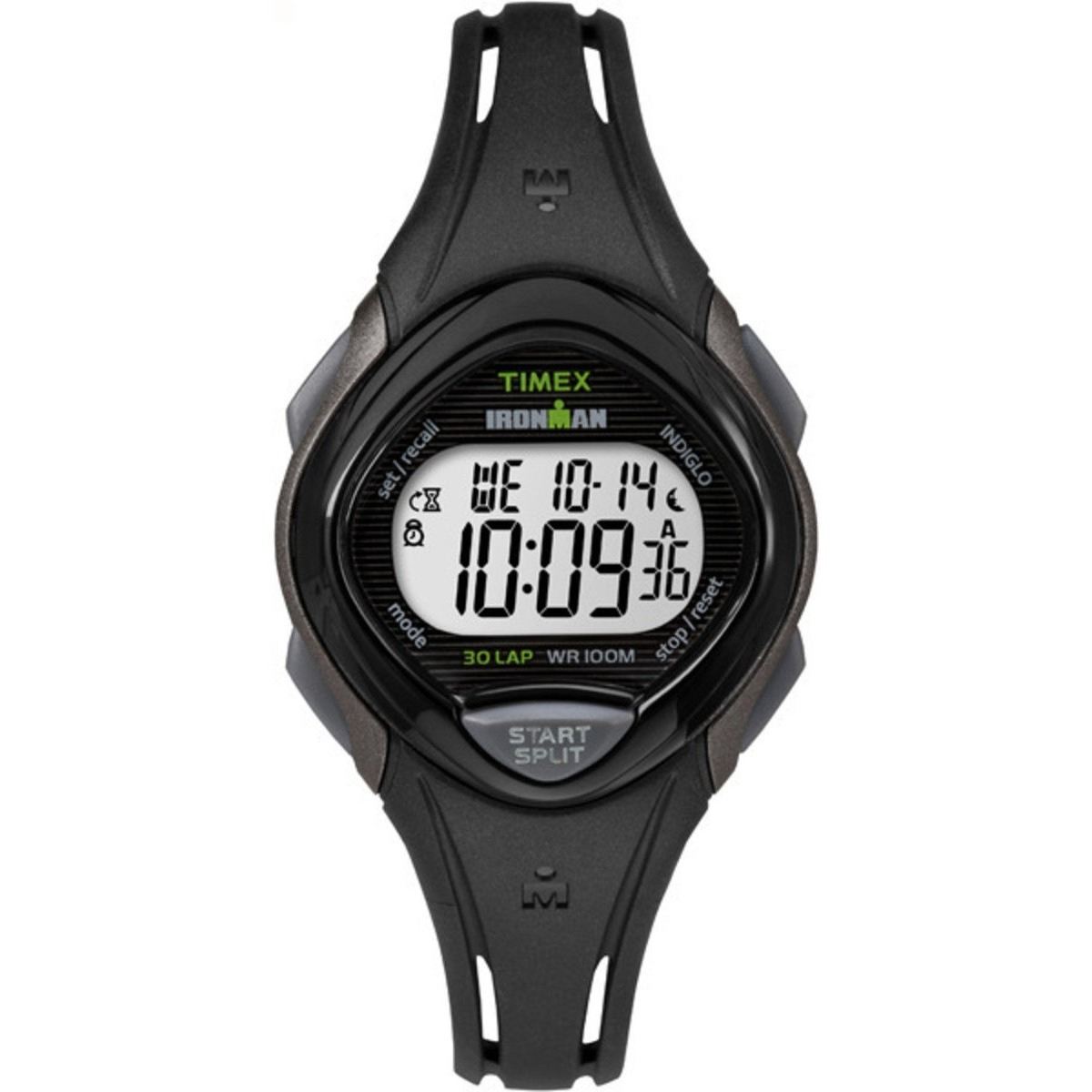 3d4940a6cf06 reloj timex ironman sleek 30 lap mid-size tw5m10300 black. Cargando zoom.