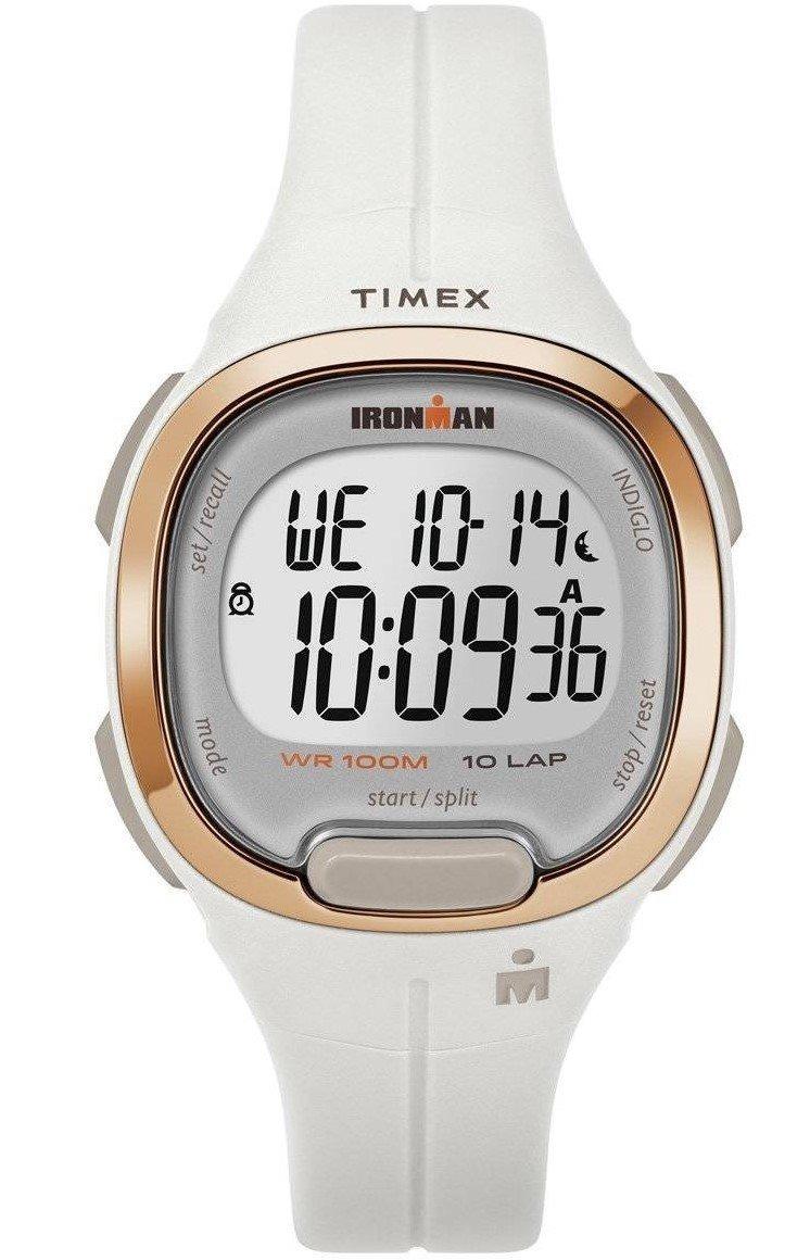 edb6f5128c7a reloj timex ironman tw5m19900 digital blanco oro para dama. Cargando zoom.
