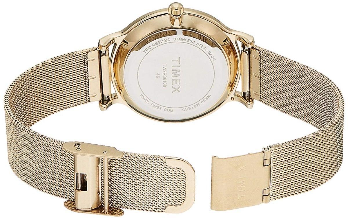 24af3dfe59f6 reloj timex metropolitan skyline tw2r36100 para dama dorado. Cargando zoom.