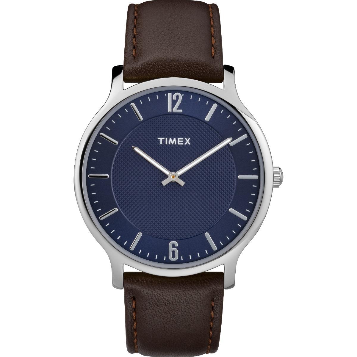 Metropolitan Hombre Timex Reloj Tw2r49900 Caféplateadoazul 3A5j4RLq