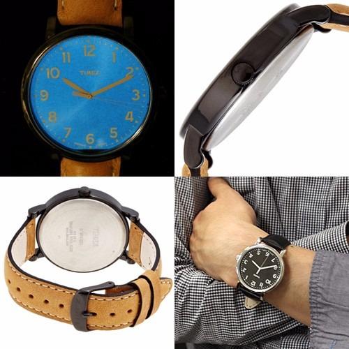 19db99911670 Reloj Timex Originals T2n677 Piel Café Caja Negra Caballero ...
