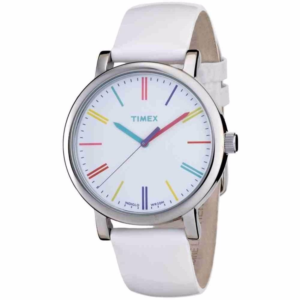 2b150a2d1ee9 reloj timex para dama t2n791 piel blanco luz 100% original . Cargando zoom.
