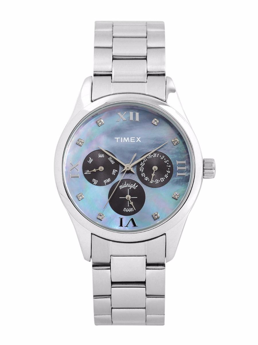 b1e214a4490a Reloj Timex Para Dama Tw000w206 Plateado azul 100% Original ...