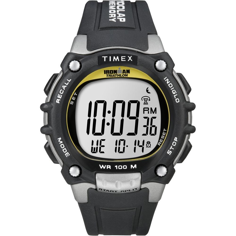 ecbdde6a01ce reloj timex para hombre ironman negro amarillo plateado con. Cargando zoom.