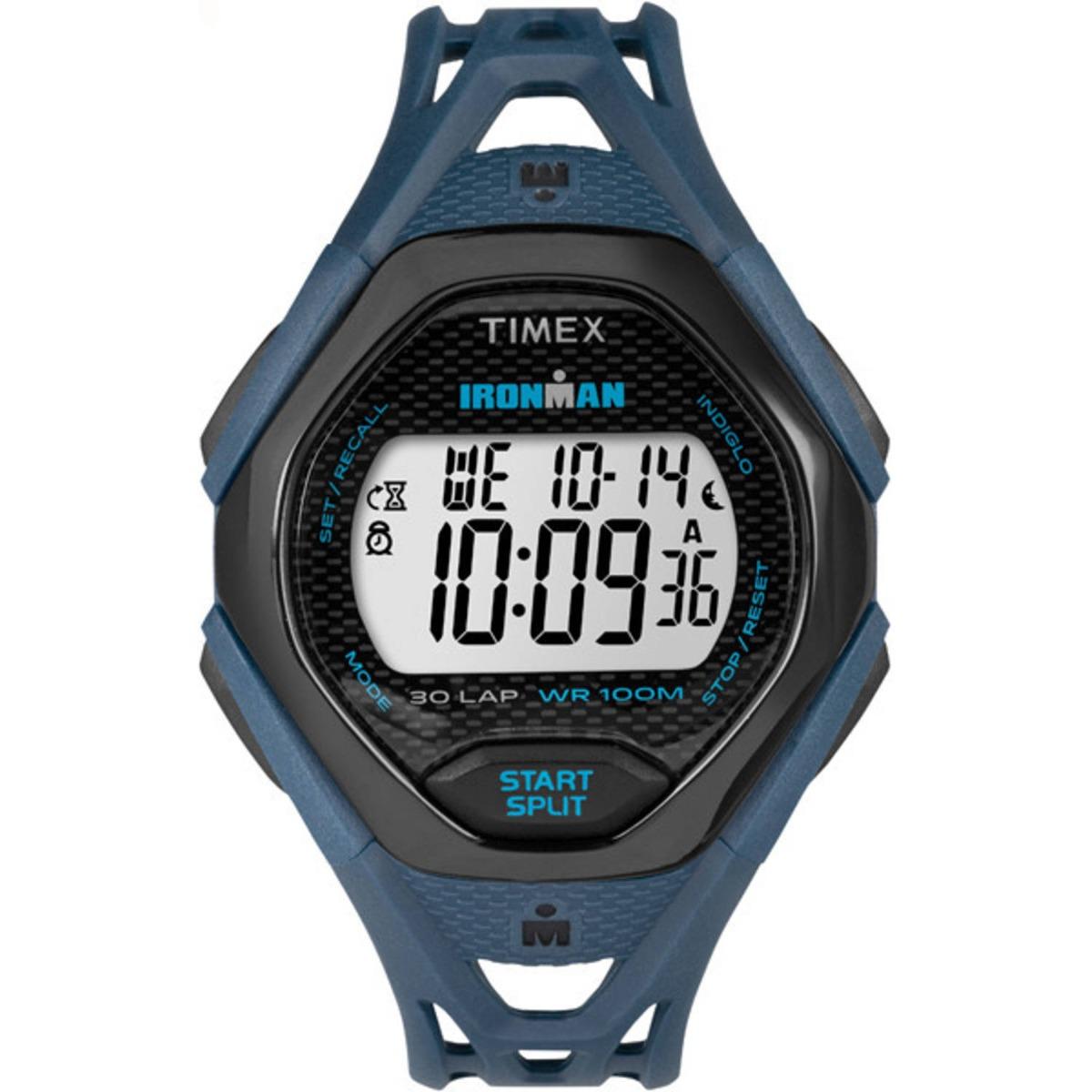 88ba5f95b9e1 reloj timex para hombre tw5m106009j ironman azul negro con. Cargando zoom.