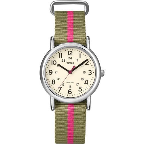 16d2917bf9d2 Reloj Timex Para Mujer T2n917 Con Correa De Nylon Rosa -   2