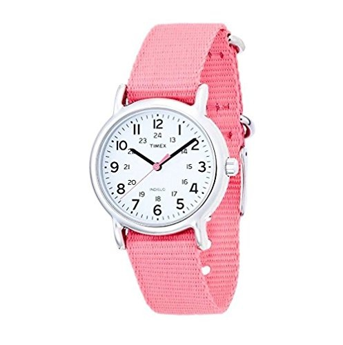 93d878f06658 Reloj Timex Para Mujer T2p368 Con Banda De Nylon Color Rosa ...