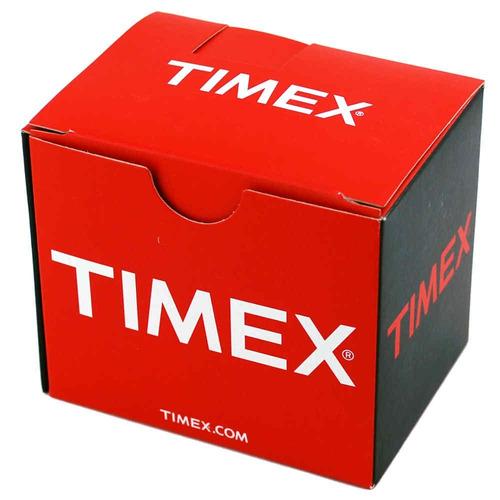 reloj timex t2n9214 women's weekender red slip through strap