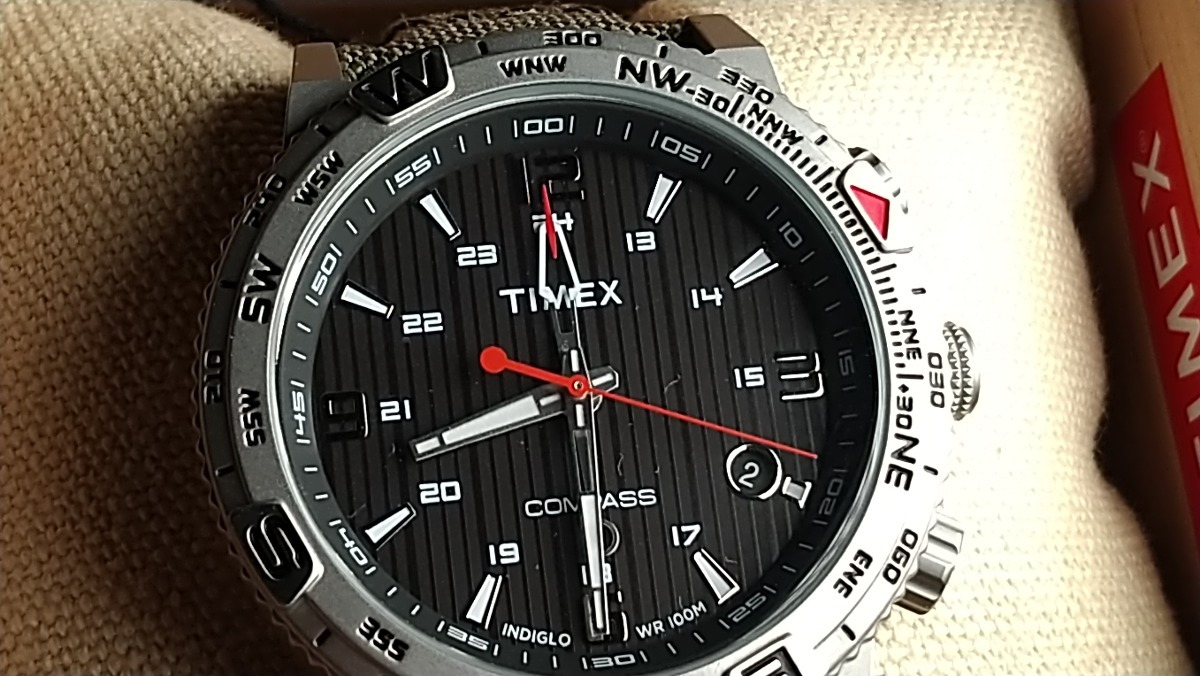 089c3fb7f9d9 Reloj Timex T2p286 Za Brújula Nuevo Original C caja Y Manual ...