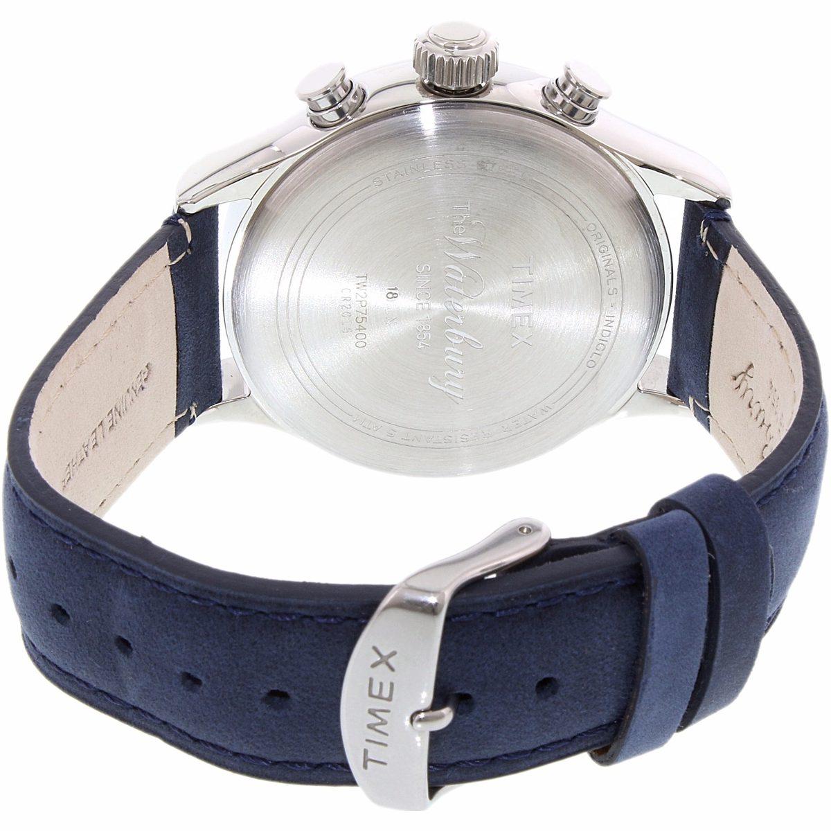 68fd358fbbcc reloj timex tw2p75400 waterbury piel azul plata de caballero. Cargando zoom.