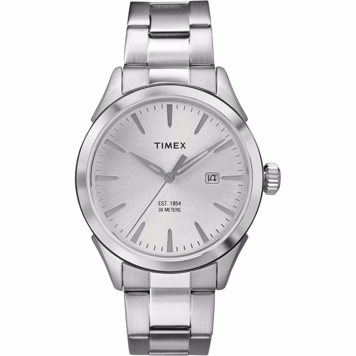38b4a3729200 reloj timex tw2p77200 metal plateado caballero 100% original. Cargando zoom.
