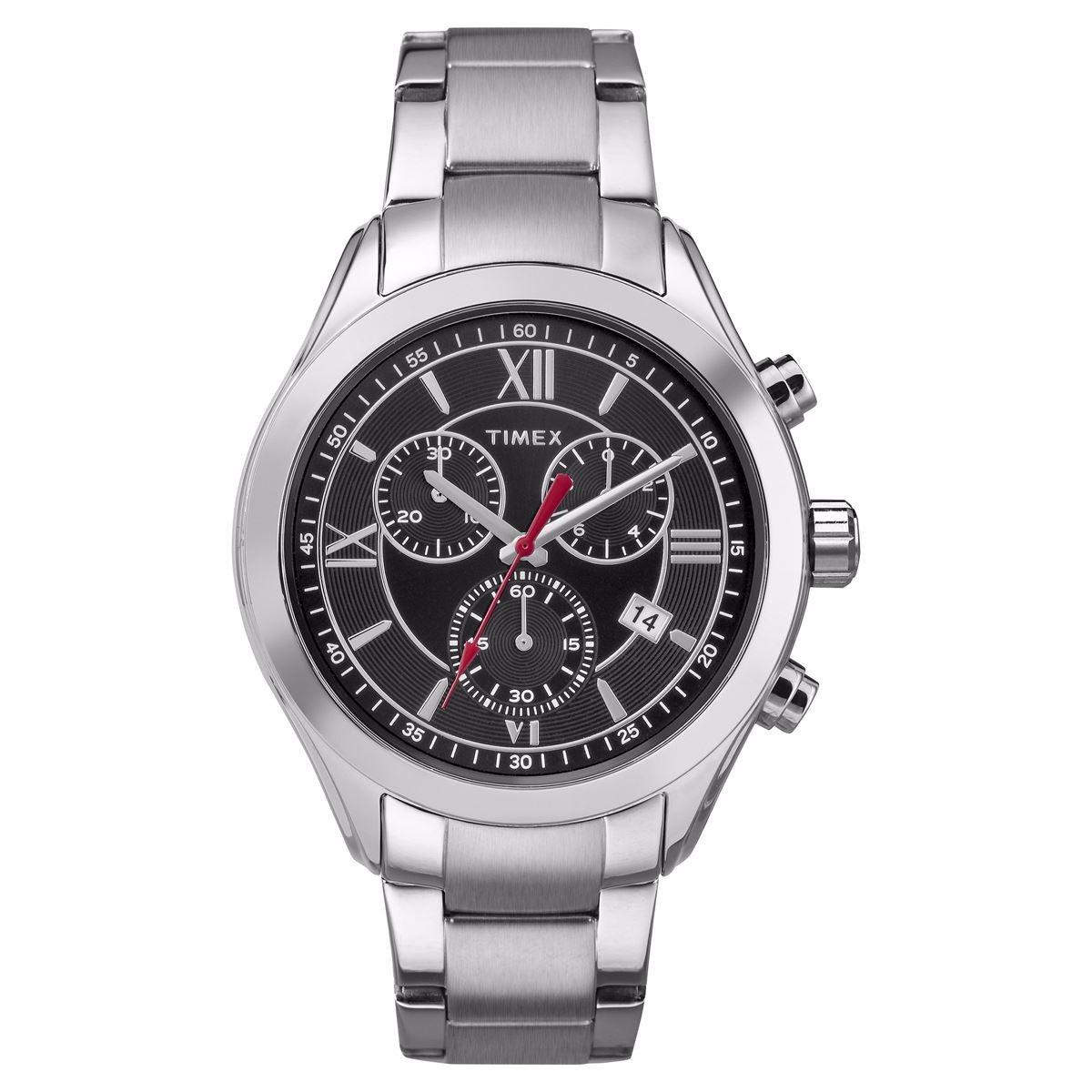 baaad49be317 reloj timex tw2p93900 caballero análogo plateado. Cargando zoom.