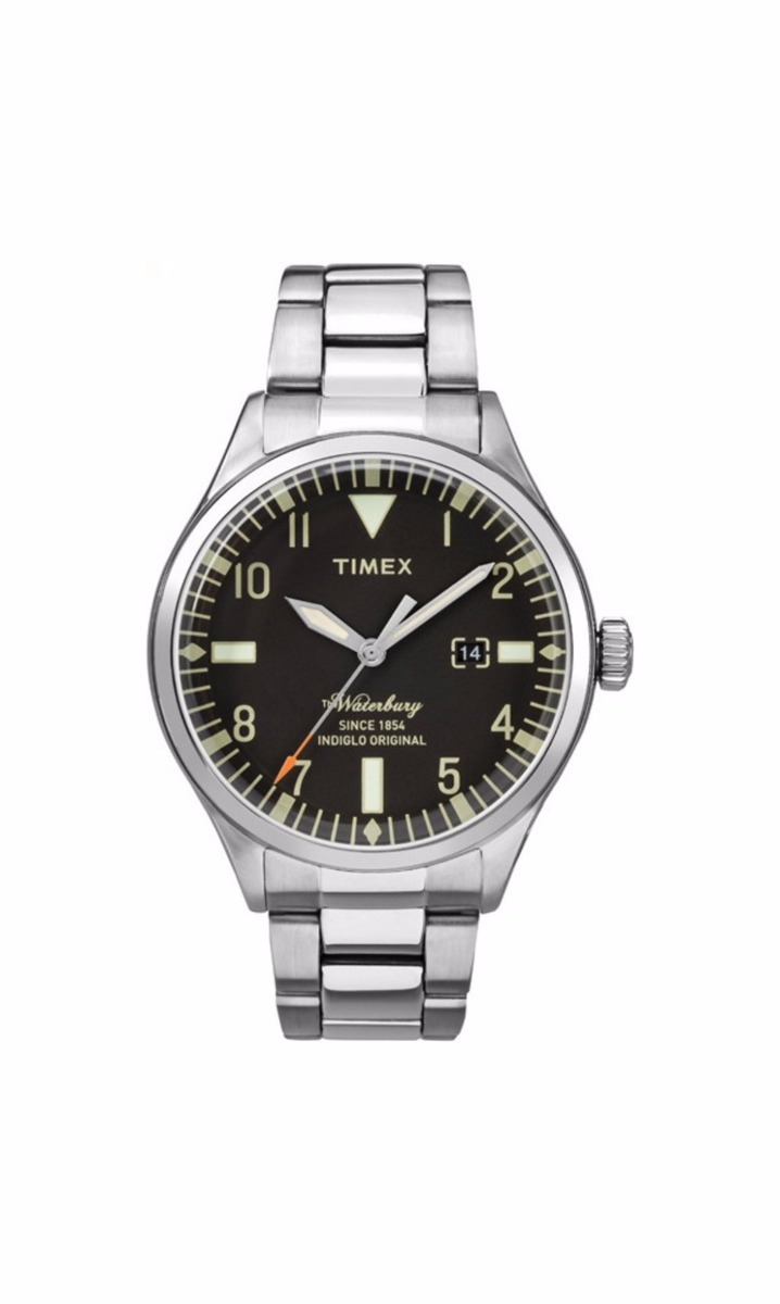 8cb442305e3b reloj timex tw2r25100 waterbury plateado original caballero. Cargando zoom.