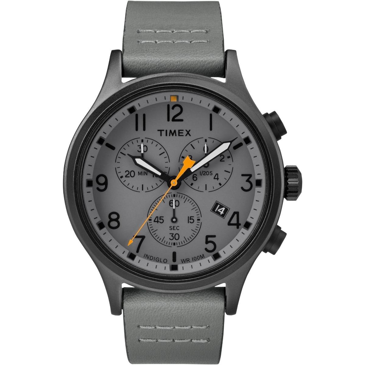 4cdbeb186f0f Reloj Timex Tw2r47400 Acero Inox Ext Piel Gris Multidial  él ...
