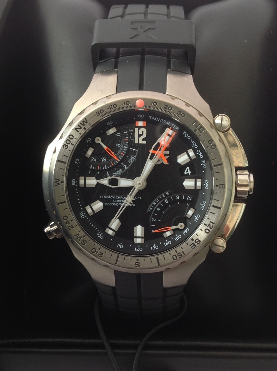 d917b5021572 Reloj Timex Tx Ed. Lujo. Cuarzo. Crono. Brújula. Titanium ...