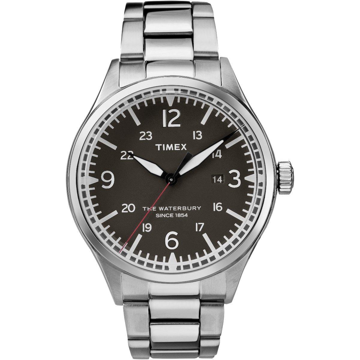 cd39673bc50a reloj timex waterbury tw2r38700 plateado original caballero . Cargando zoom.