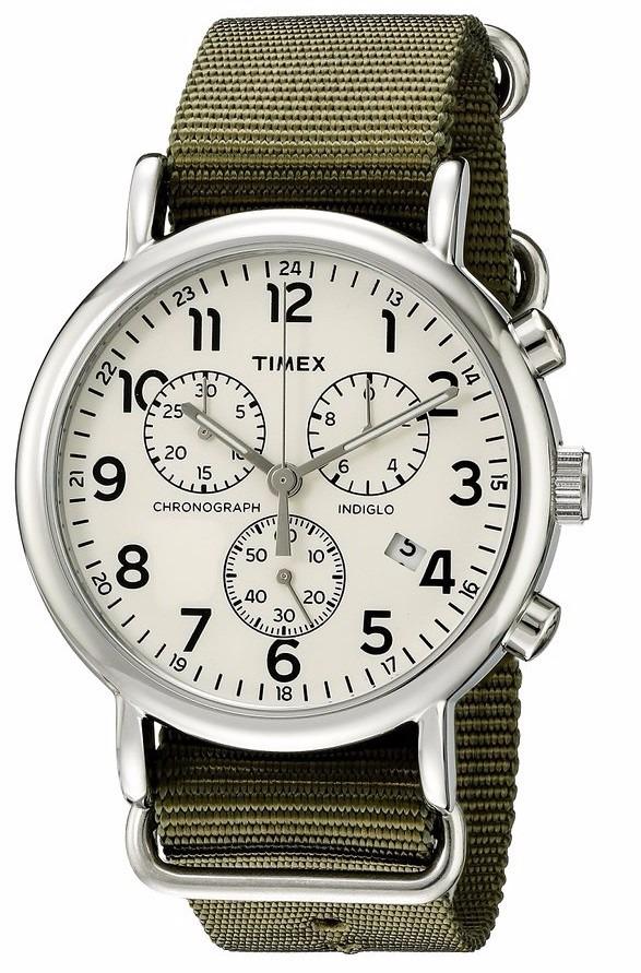 98aa7d5333eb reloj timex weekender chronograph watch. Cargando zoom.