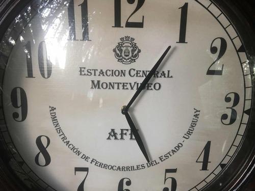 reloj tipo antiguo estacion central afe pared 55 cm