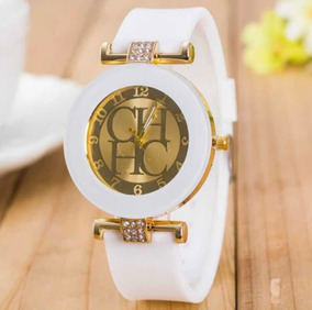 Reloj Tipo Carolina Herrera Dama Moda Ch Elegante