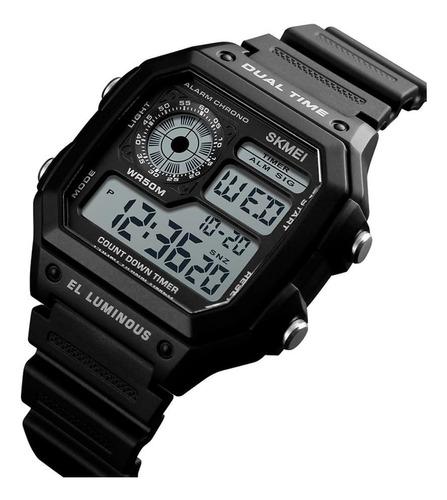 reloj tipo militar digital skmei 1299 resistente al agua