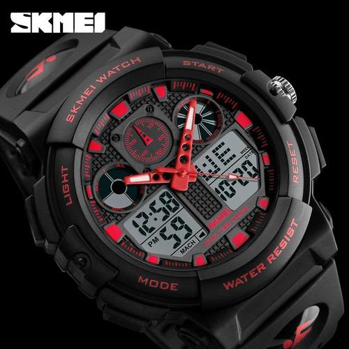 reloj tipo militar hombre sport navy seal  sumergible