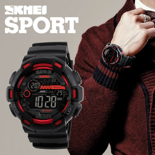 reloj tipo militar sport navy seal 3 colores sumergible 5 at