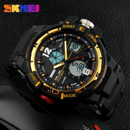 reloj tipo militar sport navy seal 4 colores skmei 1148 30m