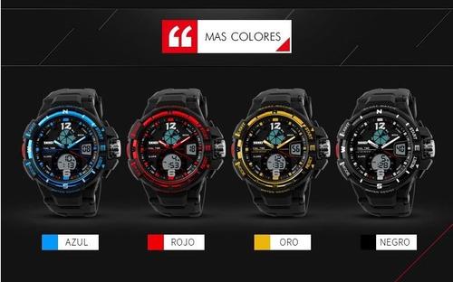 reloj tipo militar sport navy seal 4 colores skmei 1148 5atm