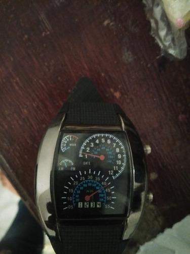 reloj tipo velocímetro aviador led