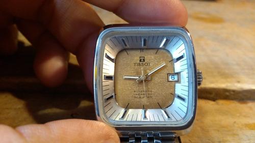 reloj tissot automático incabloc seastar suizo vintaje