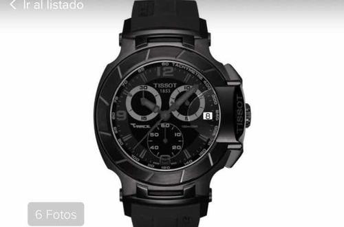 reloj tissot modelo t-race negro entero