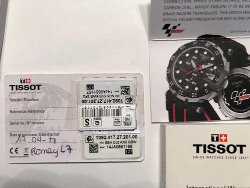 reloj tissot - moto gp - edi. limited  t092.417.27.201.00