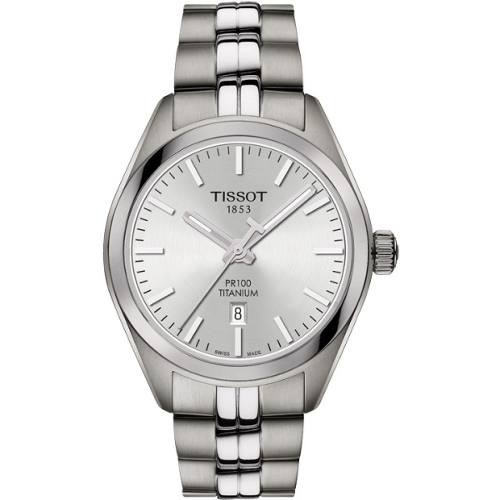 reloj tissot pr 100 titanium t1012104403100 mujer original
