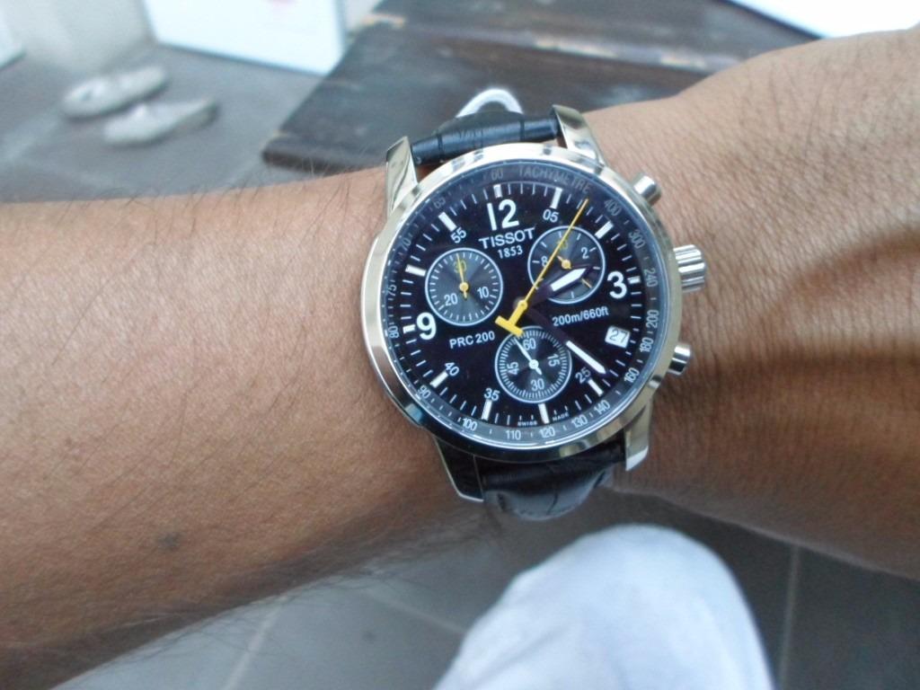 894fc84a7 reloj tissot prc 200 t17.1.526.52 cronógrafo zafiro cuero. Cargando zoom.
