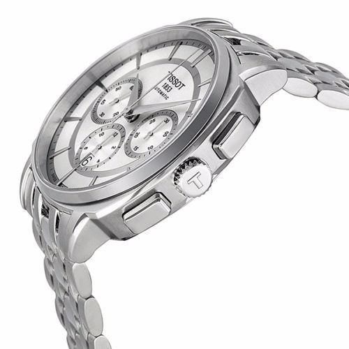 reloj tissot t-lord automático chrono acero  to5952711o31oo