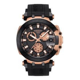 Reloj Tissot T-race T1154173705100 Negro Oro Rosa Original