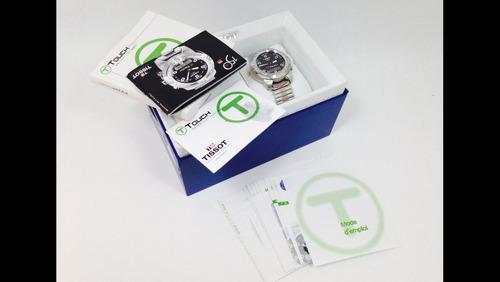 reloj tissot t- touch caja y extensible de acero, (inv 950)
