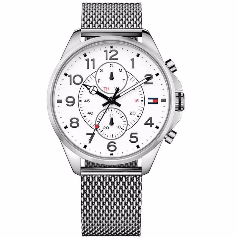 24885e9553e7 reloj tommy hilfiger caballero acero malla sumergible. Cargando zoom.