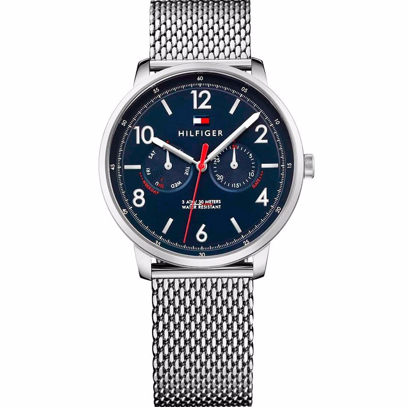 84ed3a417ca7 reloj tommy hilfiger caballero acero malla sumergible f.azul. Cargando zoom.