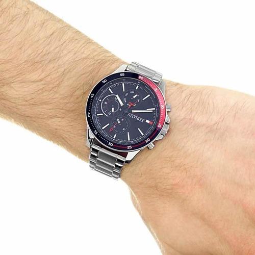 reloj tommy hilfiger con calendario multifunción 1791718