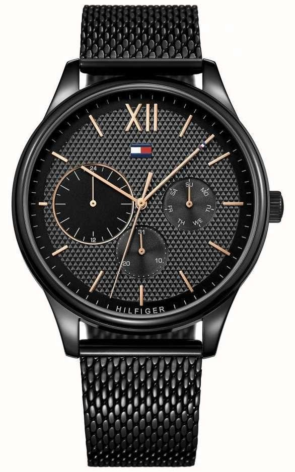 3749cef78cea reloj tommy hilfiger damon black 1791420 + envio gratis. Cargando zoom.
