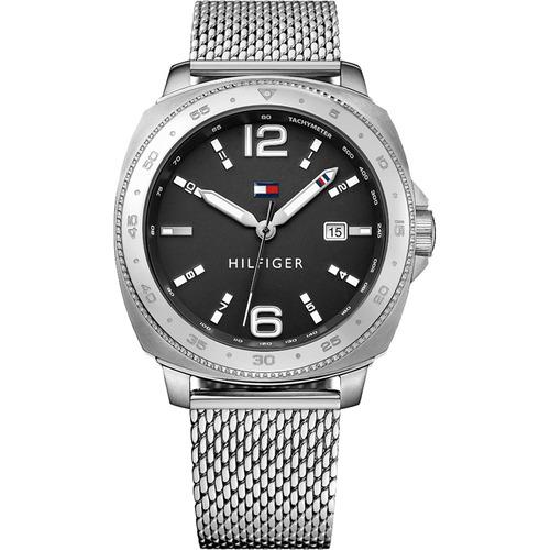 reloj tommy hilfiger de acero y malla tejida 1791428
