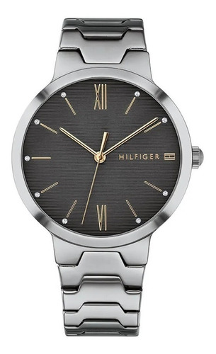 reloj tommy hilfiger de mujer plateado clásico 1781958