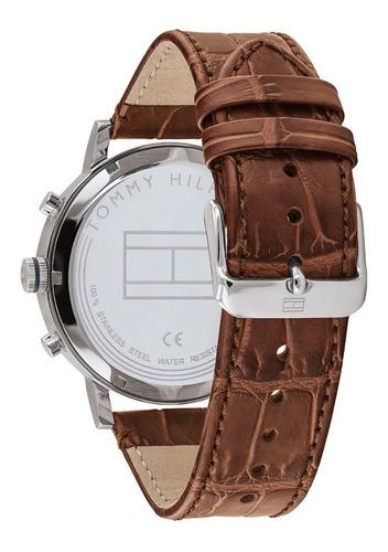 reloj tommy hilfiger hombre malla de cuero marron  1710393