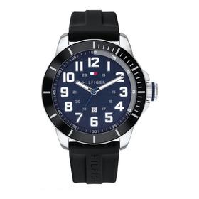 Reloj Tommy Hilfiger Hombre Negro 1791661 Silicona Sumergibl