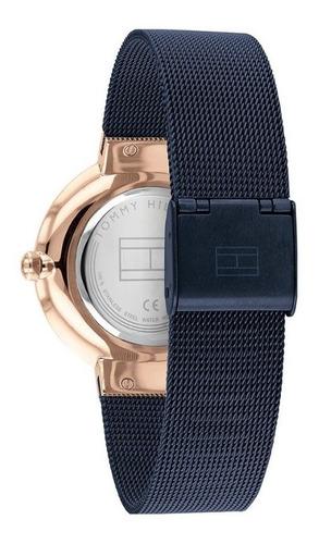 reloj tommy hilfiger mujer malla tejida azul 1782219