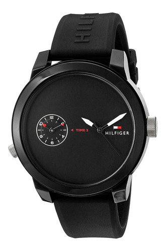 reloj tommy hilfiger negro de hombre silicona 1791326