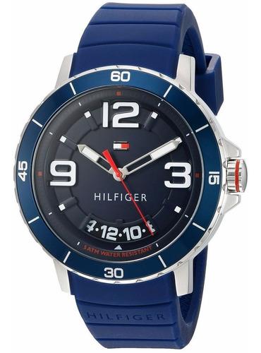 reloj tommy hilfiger trevor silicón azul hombre 1791250