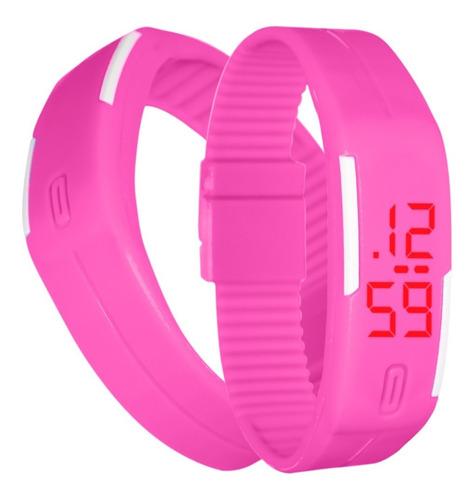 reloj touch digital deportivo de pulsera color rosa m1142